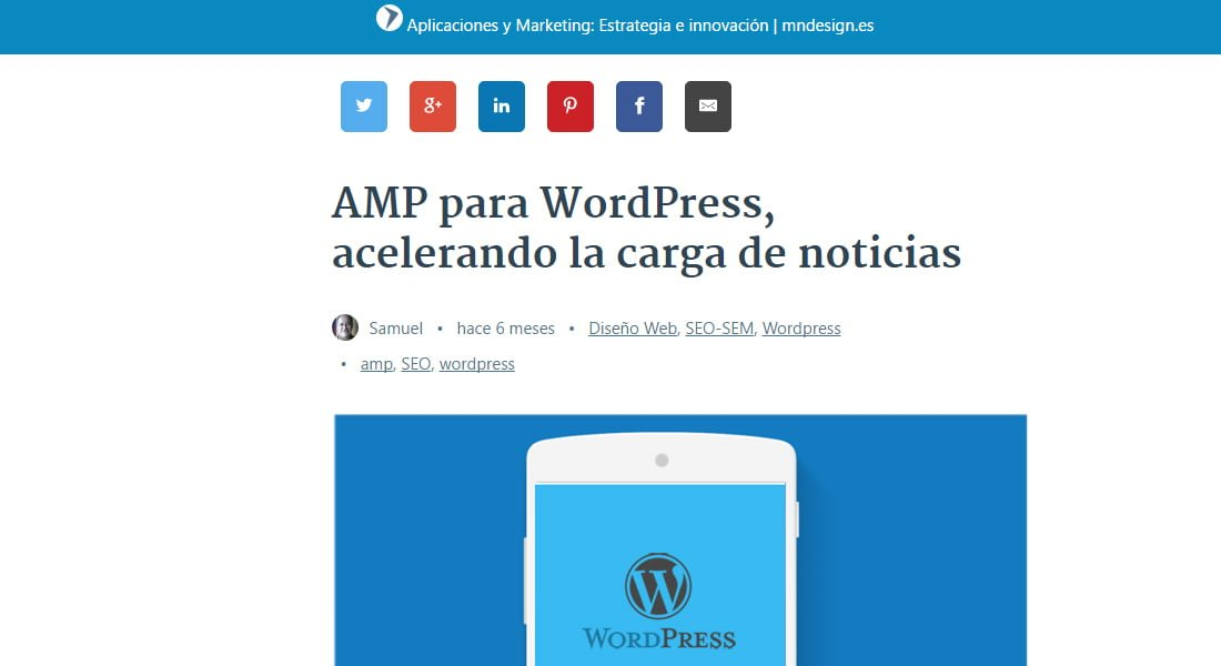 Compartir Amp WordPress