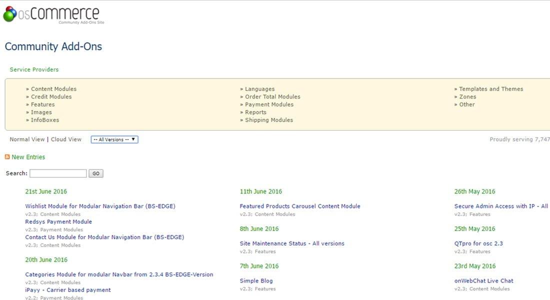 Contribuciones OsCommerce 2.3.1